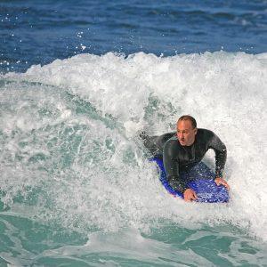 Puslentė SurfnSun Bodyboard Hinanui 41 Blau Schwarz
