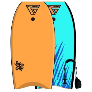 Puslentė Flood 39 crescent tail streak eps bodyboard tiger orange blue