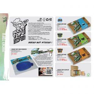Surf Wax YUCKY TOFU Green Cool-Warm 15-21°C-wachs