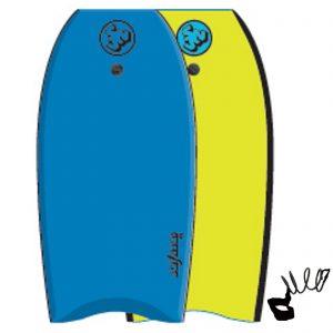 Puslentė (Bodyboardas) SurfnSun Bodyboard Similar-41 Blau-Gelb