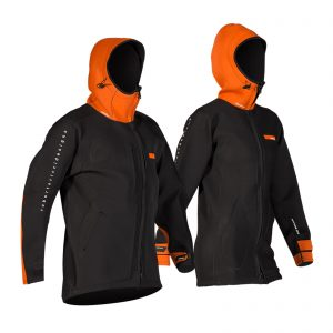 RRD Neoprene Long Jacket black/orange women
