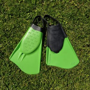 LĄSTAI BZ Surf Fins Rubbers X-Large Green Black 11.5-13