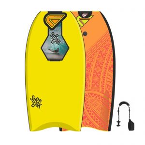 Bodybordas FLOOD Bodyboard Streak 42 Yellow Orange Maori